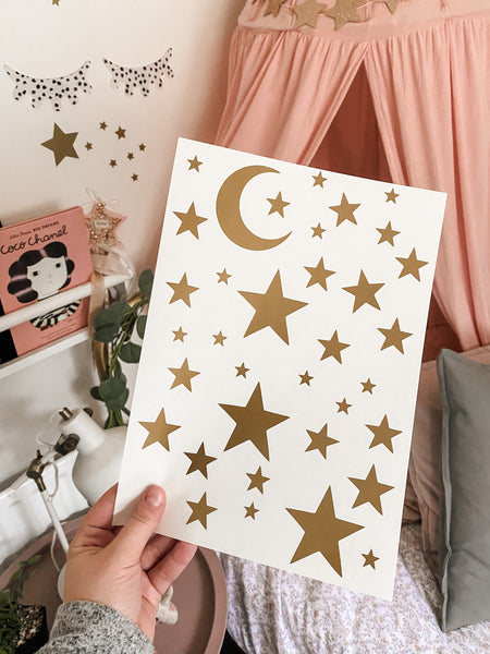Moon & Stars Wall Stickers