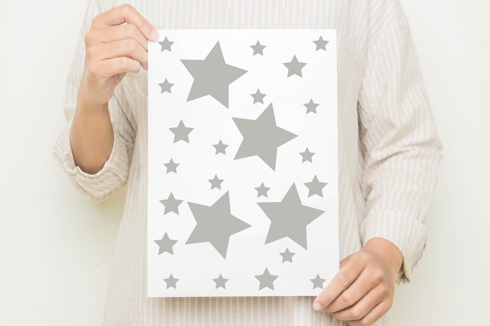 Silver Star Wall Stickers