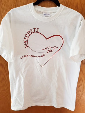 T-shirt: Whippet Course Through My Heart