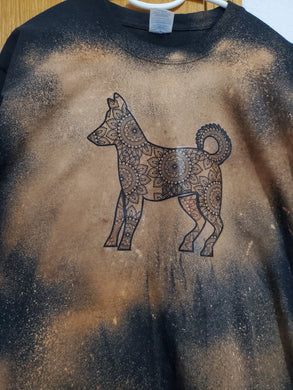 T-shirt: Golden Mandala Dog (Unisex)