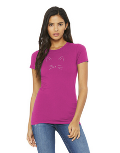 T-shirt: Cat Face (Women's)
