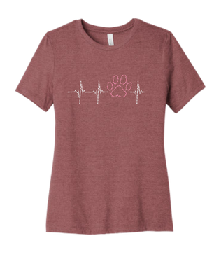 T-shirt: Heartbeat Pink Paw (Woman's)