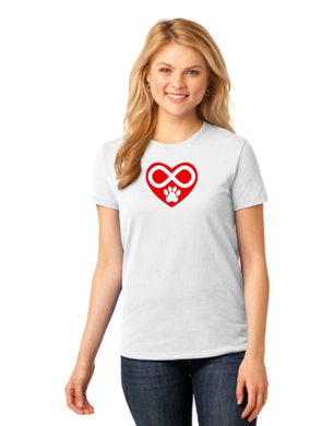 T-shirt: Infinity Heart with Paw (Woman's)