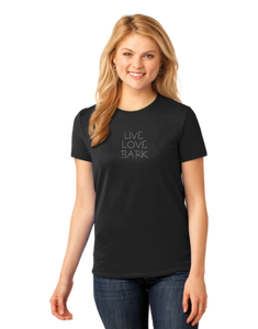T-shirt: Live Love Bark (Womens)