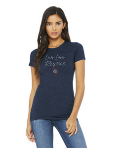 T-shirt: Live Love Rescue (Women's)