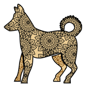 Load image into Gallery viewer, T-shirt: Golden Mandala Dog (Unisex)