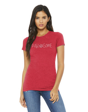 T-shirt: Pawsome (Women's)