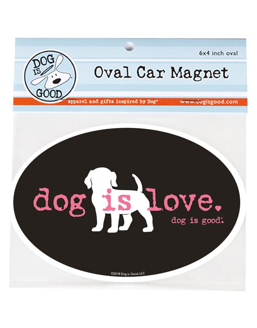 Car Magnet: Dog is Love