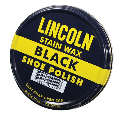 Lincoln U.S.M.C. Black Stain Wax Shoe Polish - Delta Survivalist
