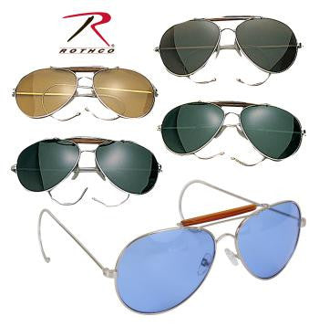 Aviator Air Force Style Sunglasses-Military Printed Case & Box - Delta Survivalist