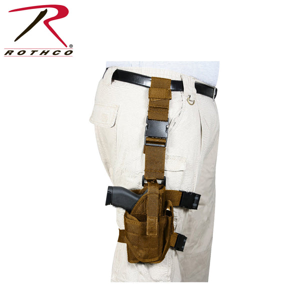 Deluxe Adjustable Drop Leg Tactical Holster - Delta Survivalist