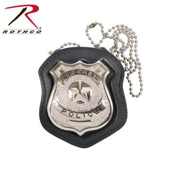 NYPD Style Leather Badge Holder w/ Clip - Delta Survivalist
