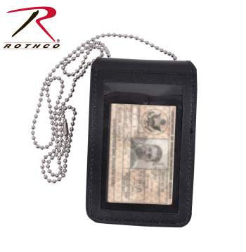 Universal Leather Badge & ID Holder - Delta Survivalist