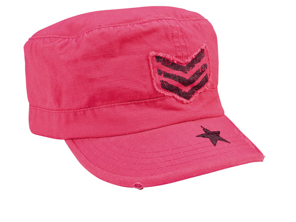 Women's Vintage Adjustable Fatigues Caps - Stripes & Stars - Delta Survivalist