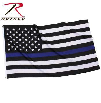 Thin Blue Line U.S. Flag - Delta Survivalist