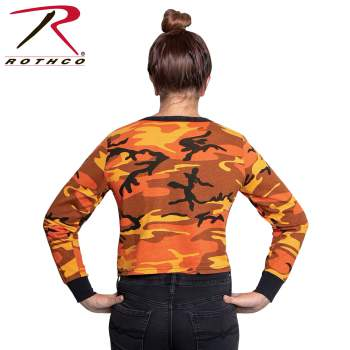 Women's Camo Long Sleeve Crop Top - Delta Survivalist