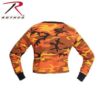 Women's Camo Long Sleeve Crop Top