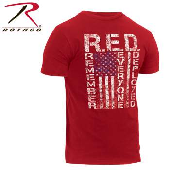 Athletic Fit R.E.D. (Remember Everyone Deployed) T-Shirt - Delta Survivalist