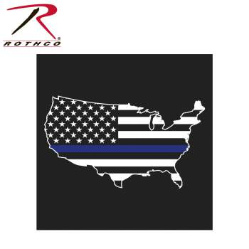 Thin Blue Line America Map T-Shirt - Delta Survivalist