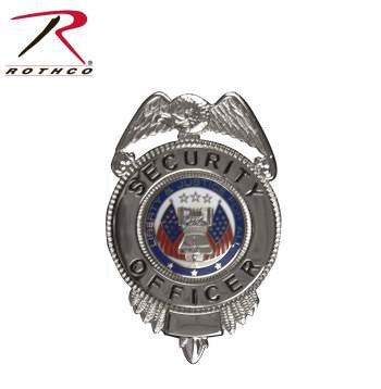 Security Officer Badge w/ Flags
