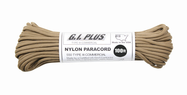 Nylon Paracord Type III 550lb 100 Ft - Delta Survivalist