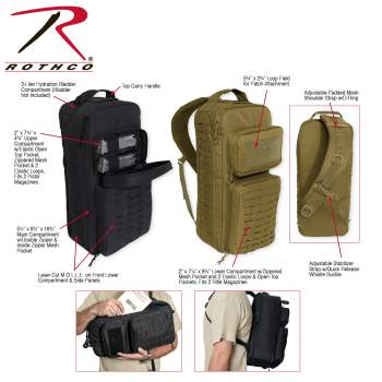 Tactical Single Sling Pack With Laser Cut - Delta Survivalist