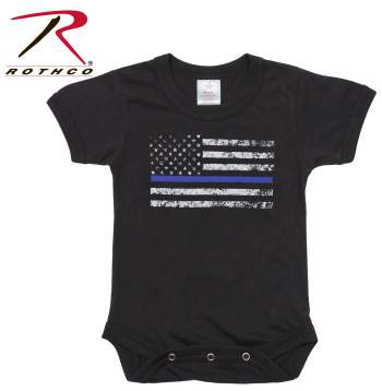 Infant Thin Blue Line One-Piece Bodysuit