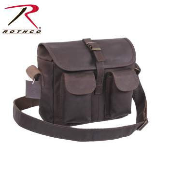 Brown Leather Ammo Shoulder Bag - Delta Survivalist