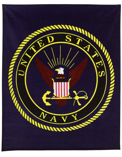 Military Insignia Fleece Blankets