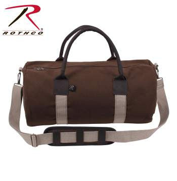 "19"" Canvas & Leather Gym Bag - Delta Survivalist"