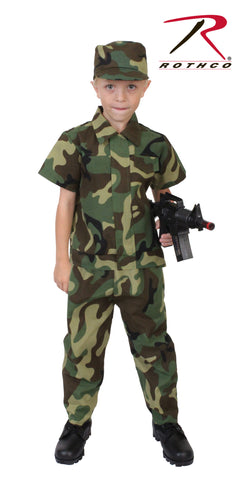 Kid's Camouflage Soldier Costume - Delta Survivalist