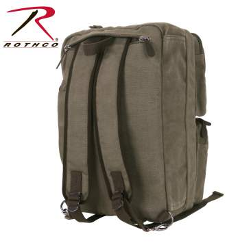 Canvas Briefcase Backpack - Delta Survivalist