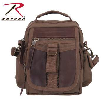Canvas & Leather Travel Shoulder Bag - Delta Survivalist