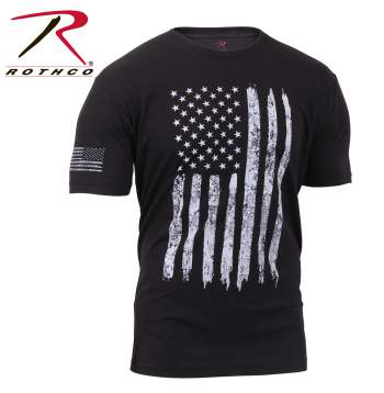Distressed US Flag T-Shirt - Delta Survivalist