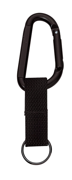 Jumbo 80MM Carabiner w/ Web Strap Key Ring - Delta Survivalist