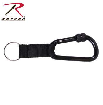 80mm Locking Carabiner With Web Strap Ring