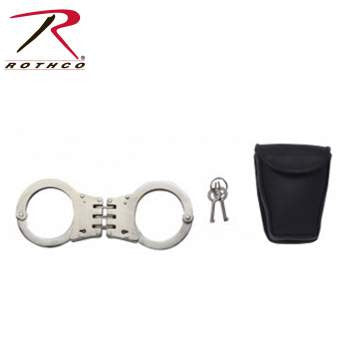 Deluxe Hinged Handcuffs / Nickel Plated - Delta Survivalist