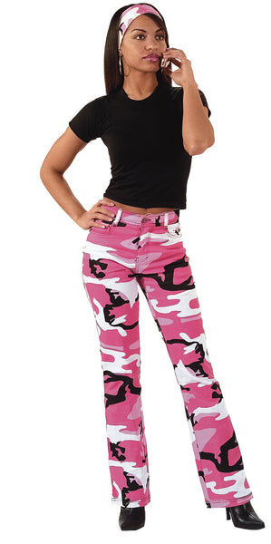 Womens Camouflage Stretch Flare Pants - Delta Survivalist