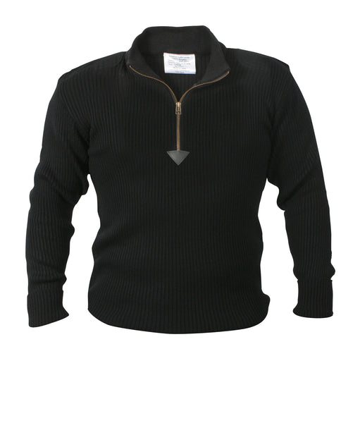 Quarter Zip Acrylic Commando Sweater - Delta Survivalist