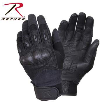 Carbon Fiber Hard Knuckle Tactical Gloves - Delta Survivalist