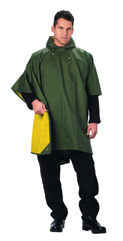 Reversible Rubberized Poncho - Delta Survivalist