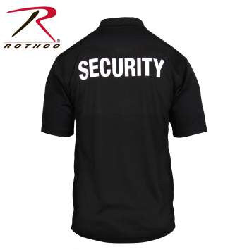 Moisture Wicking Security Polo Shirt With Badge - Delta Survivalist