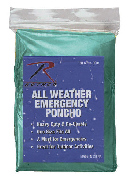 All Weather Emergency Poncho - Delta Survivalist
