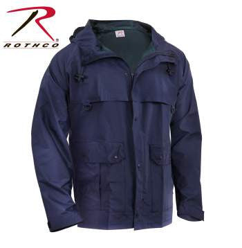 Microlite Rain Jacket - Navy Blue - Delta Survivalist