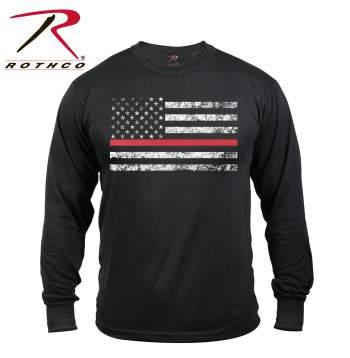Thin Red Line Long Sleeve T-shirt - Delta Survivalist