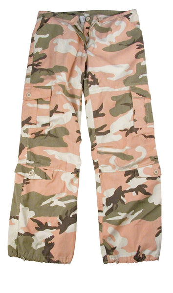 Womens Camo Vintage Paratrooper Fatigue Pants - Delta Survivalist