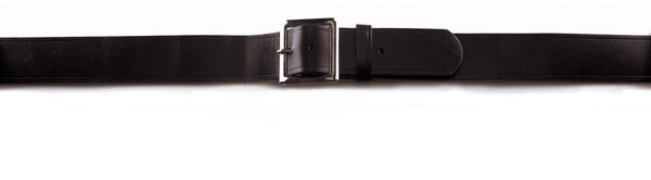 Black Genuine Cowhide Garrison Belt - Delta Survivalist