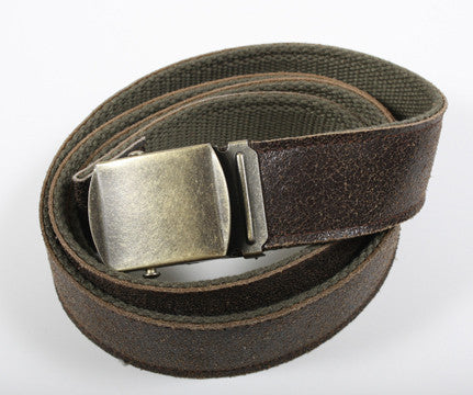 Reversible Vintage Leather/Poly Web Belt - Delta Survivalist