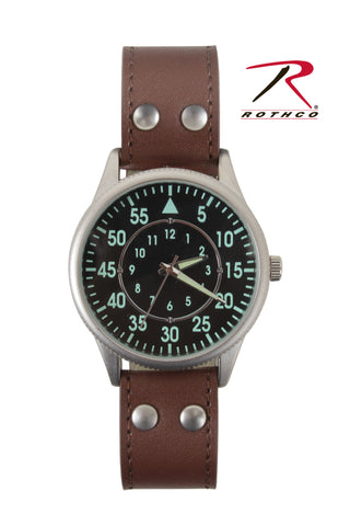 Military Style Watch With Leather Strap - Delta Survivalist