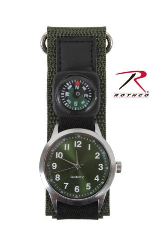 Watch With Compass-Olive Drab - Delta Survivalist